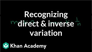 recognizing direct and inverse variation rational expressions algebra ii khan academy