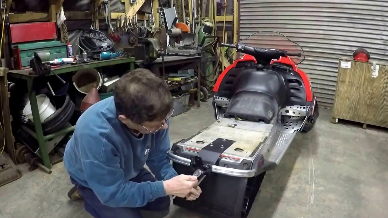 Building A Snowmobile Sleigh Hitch Youtube