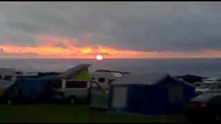 Sun set at Damage Barton Caravan Site,Devon