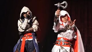 "Ezio Auditore and Connor Kenway - ""Assassins Creed"" Duo performance [UniCon 2015] Riga"
