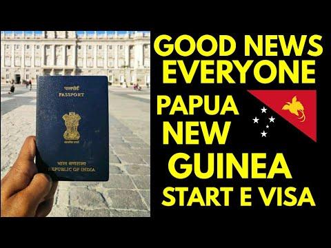 Good News Everyone Papua New Guinea Start E Visa Indian Passport Holder.