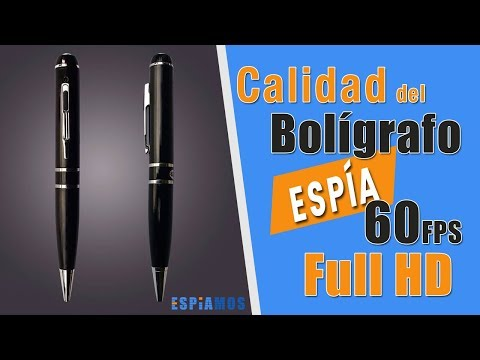 Bolígrafo con cámara Full HD 1080p 60 FPS alta autonomía video