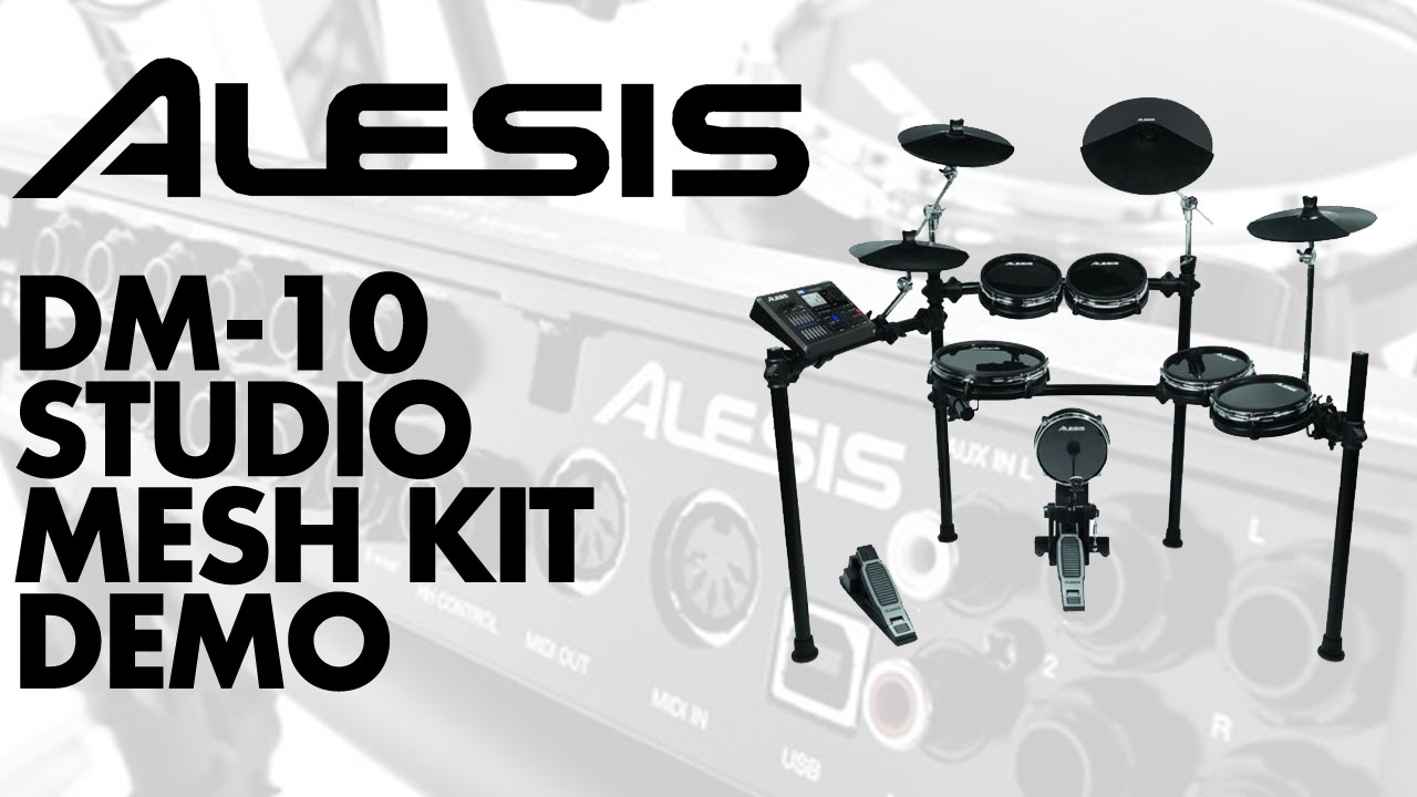alesis dm10 studio kit mesh demo at gak youtube
