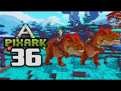 TAMING A T REX!  MY NEW YARD DOG - Let's Play PixARK Gameplay Part 36 (PixARK Taming Pooping Evolved
