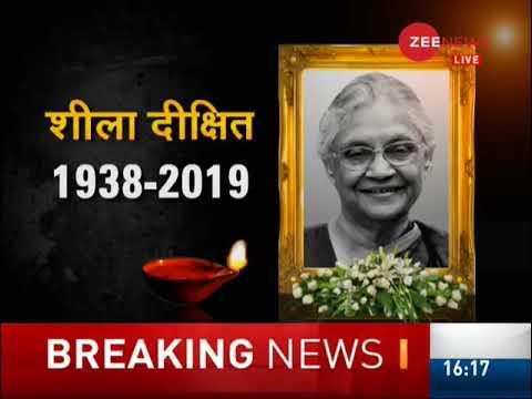 Sheila Dikshit, three-time Delhi Chief Minister, dies at 81
