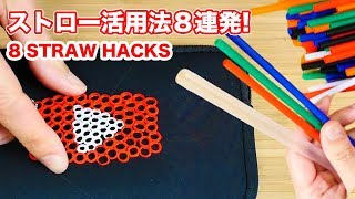 New 8 Straw Life Hacks