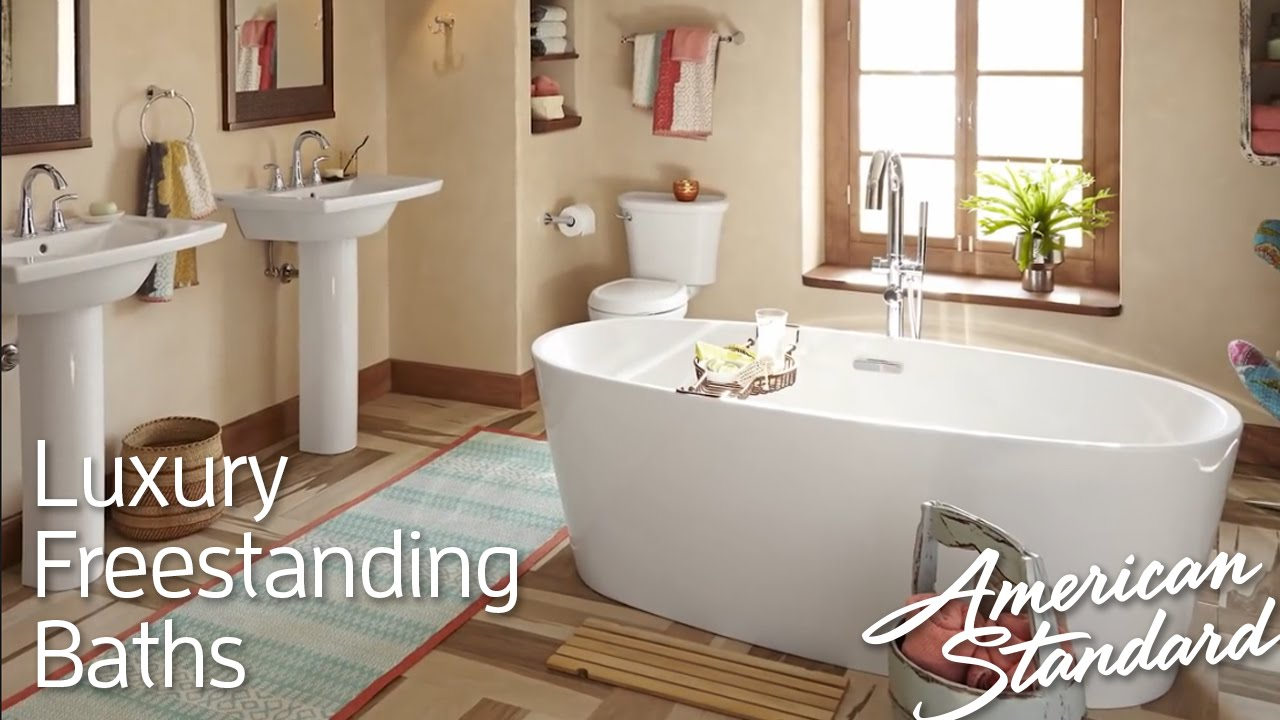 most comfortable freestanding tub.  Luxury Freestanding Tubs Soothing Deep Soaking Bathtubs YouTube