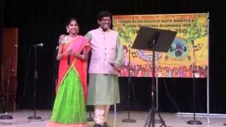 Kirti Chamkura, Ramachary Sir singing Pacha Bottasi Na bahubali for LMA Swararchana 2015