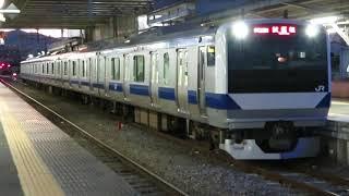 水戸線 E531系K451編成 試9725M ワンマン試運転 友部駅発車 2021.01.27