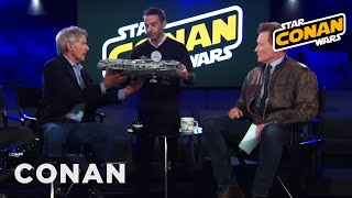 Jordan Schlansky Asks Harrison Ford To Sign His Millennium Falcon  - CONAN on TBS thumbnail