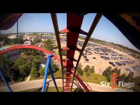 Top 5 Roller Coasters At Six Flags Great America 2K14 Edition