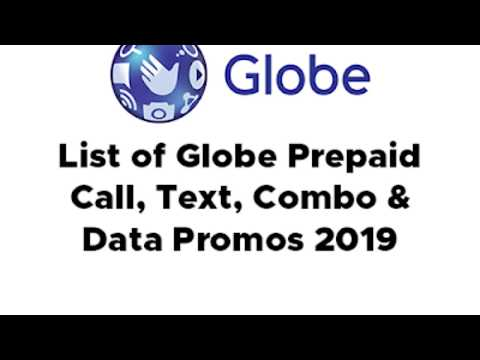 COMPLETE List Of Globe Prepaid Call, Text, Combo And Data Promos 2019