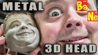 3D Printing My Head w/ New Bronze Metal Composite Material