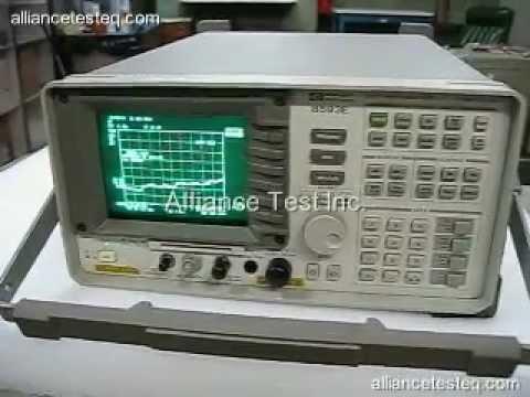 8593e agilent spectrum analyzer from alliance test youtube rh youtube com USB Spectrum Analyzer Tektronix Spectrum Analyzer