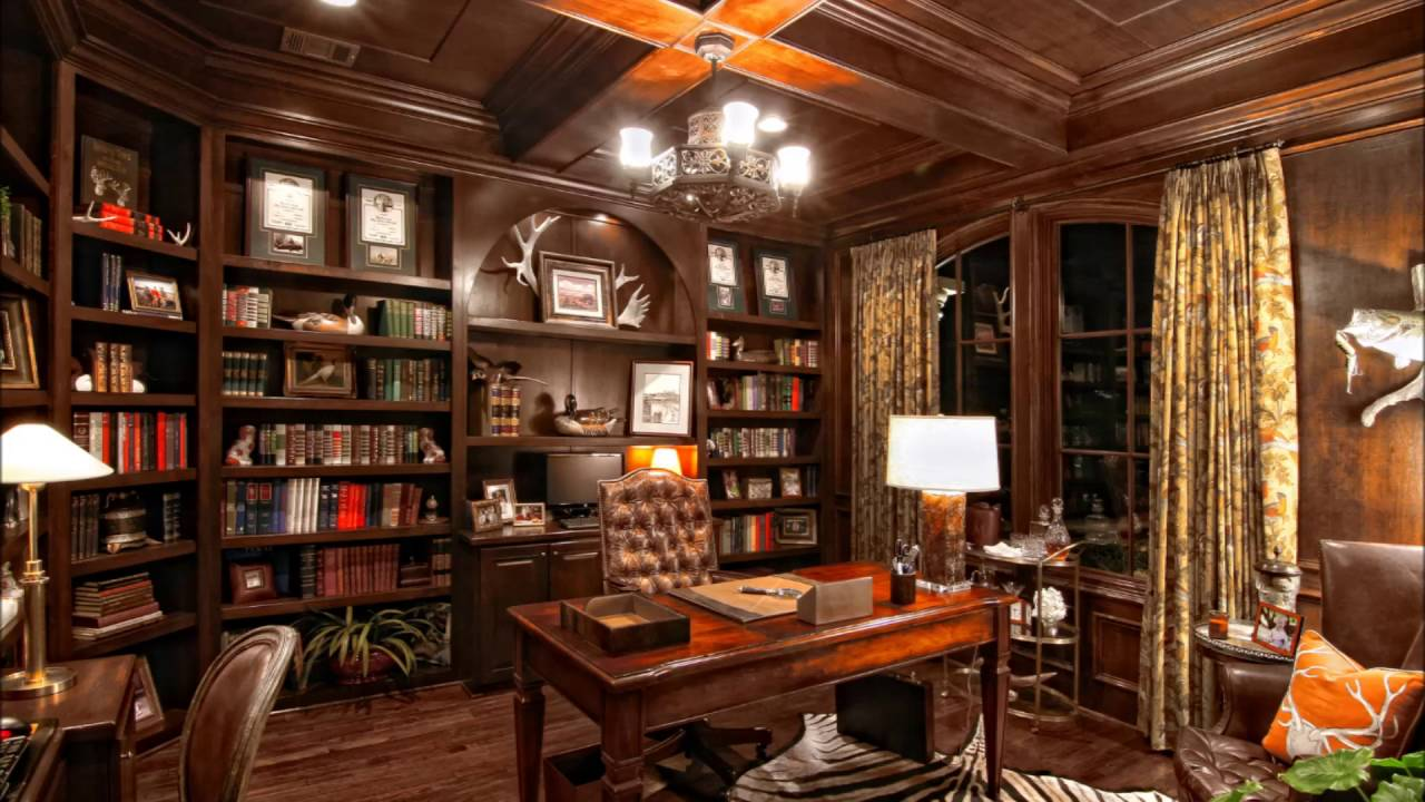 Luxury Home Library Room Decorating Ideas - YouTube