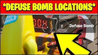 PLANT OR DEFUSE A BOMB IN SEARCH AND DESTROY MATCHES (BOMB LOCATIONS) - Fortnite LOVE AND WAR