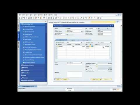 Purchasing Processes in SAP Business One