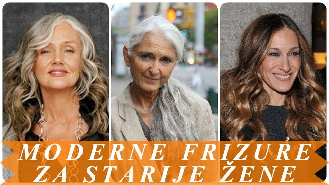 Moderne Frizure Za Dugu Kosu Za Starije žene Youtube