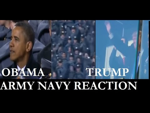 Obama vs Trump ARMY NAVY GAME cheering. Amazing! MAGA