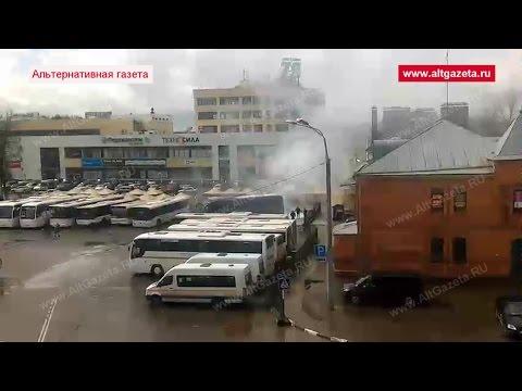 На фото Сейчас на автовокзале горит автобус изображение
