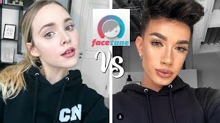 I followed a James Charles Makeup & Facetune Tutorial