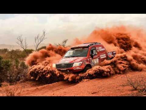 Dakar rally 2017 in camera viewfinder, 12 frames per second