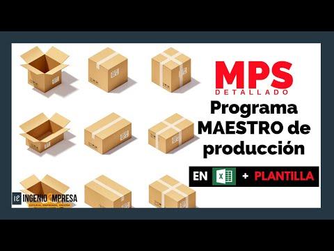 Programa maestro de producción: Ejemplo resuelto en excel