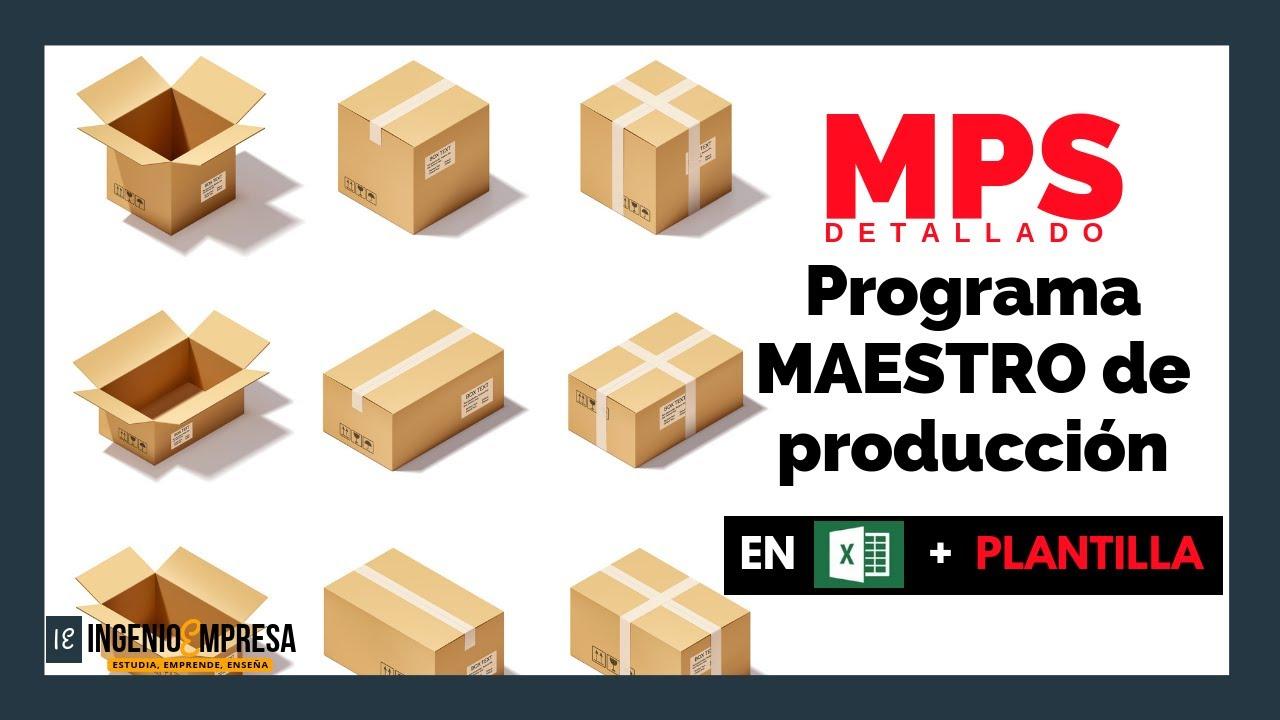 Programa maestro de producción: Ejemplo resuelto en excel - YouTube