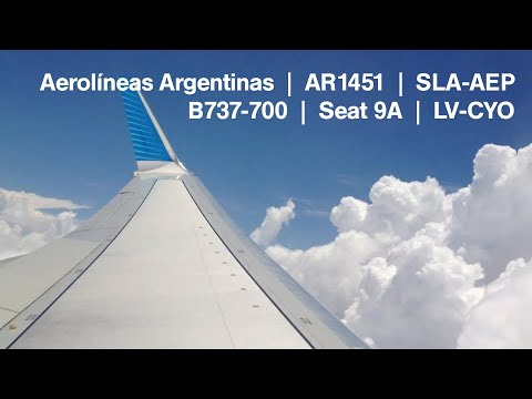 Bumpy approach through developing thunderstorms at Buenos Aires in Aerolíneas Argentinas B737-700