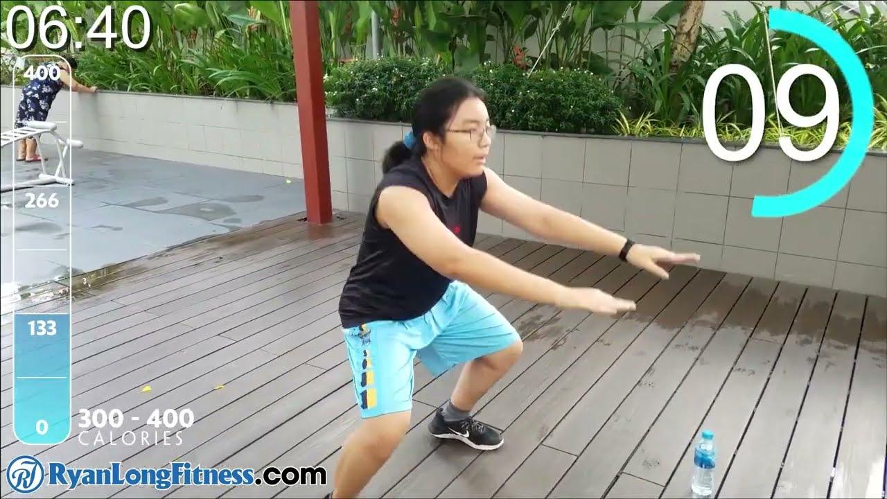 Học Sinh Tập 400 Calories Trong 30 Phút Giảm Cân Toàn Thân - HLV Ryan Long Fitness