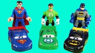Disney pixar Cars Nightwing Car Lightning McQueen Batman Mater With Imaginext Justice League