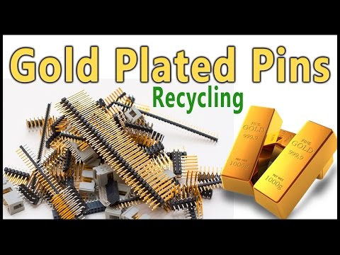 🖇Gold Recovery from gold plated connector pins.Gold plated pins Recycling. Easy Method