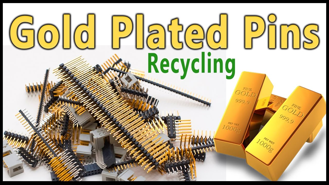 Gold Recovery From Plated Connector Pinsgold Pins Phone Wiring Recycling Easy Method