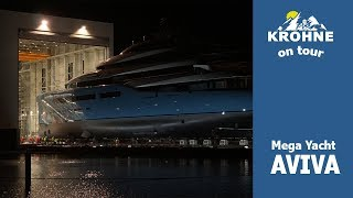Mega Yacht AVIVA geht auf ihre erste Reise + Zeitraffer und Schiffshorn - Abeking und Rasmussen