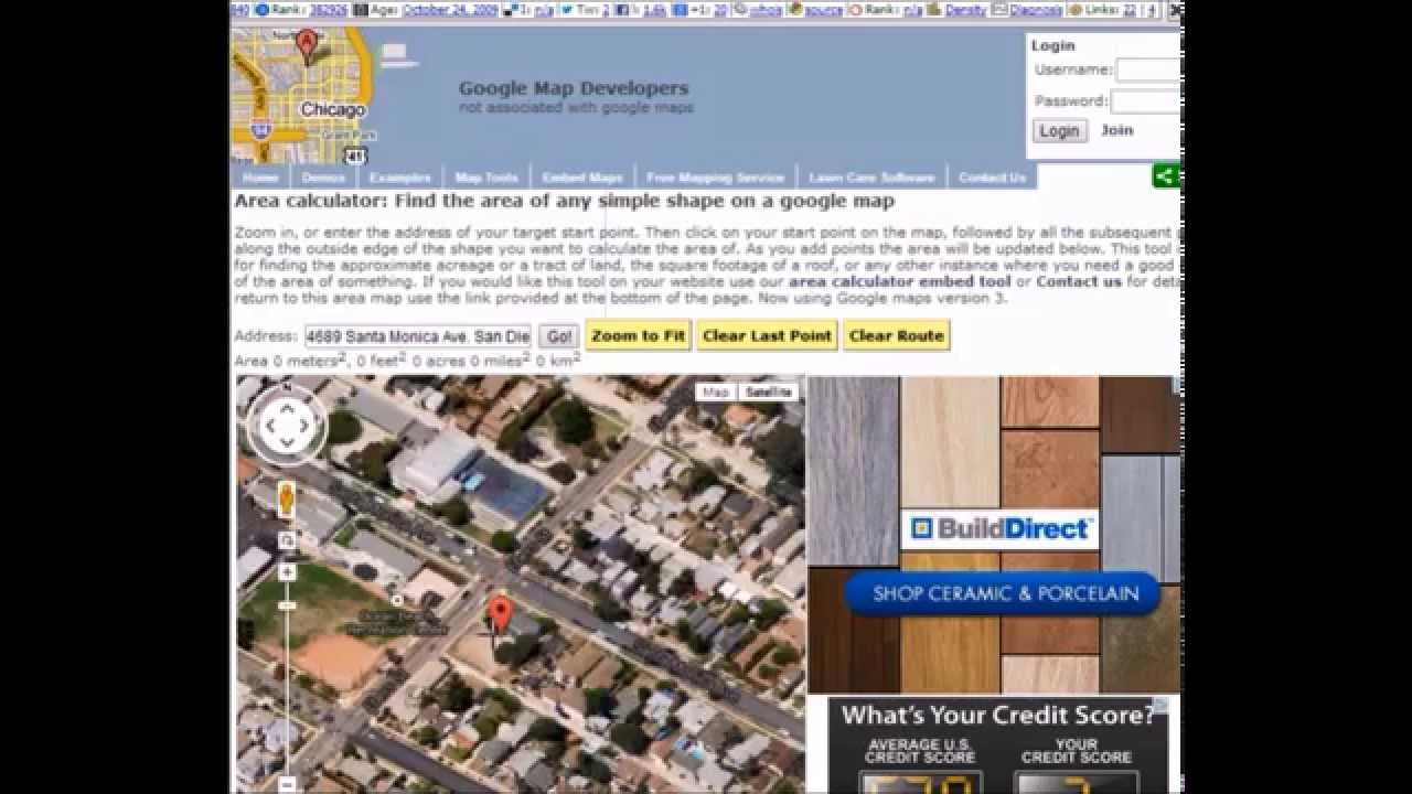 how to find area in google maps area calculator google map