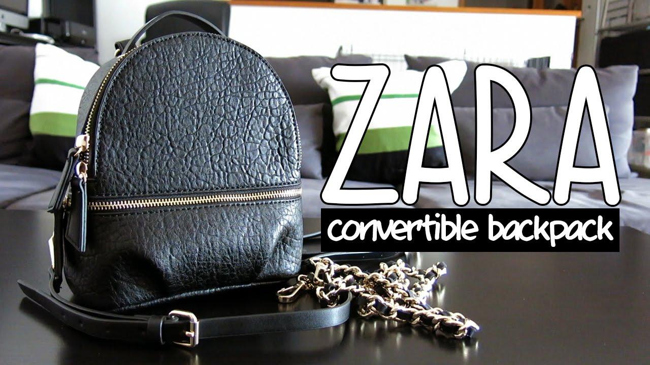 71d382564e a closer look  Zara convertible backpack