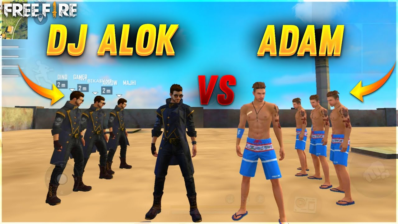 DJ ALOK VS ADAM  FACTORY CHALLENGE 😂| 4 VS 4 WHO WILL WIN?😂| AJJU BHAI |#ajjubhai #factoryfreefire