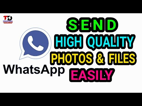 How To Send Full Resolution Images & Video in Whatsapp without reducing  size,Hindi,2017