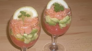Comment faire une salade tricolore , pamplemousse - avocat - saumon?