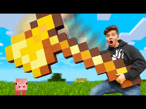 I Crafted a GIANT Real Life MINECRAFT Axe! (Minecraft in Real Life)