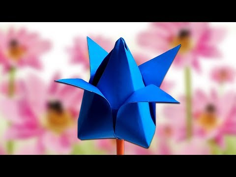 How To Make Lotus Flower Easy Tutorial Paper Craft | How To Make Paper Flower