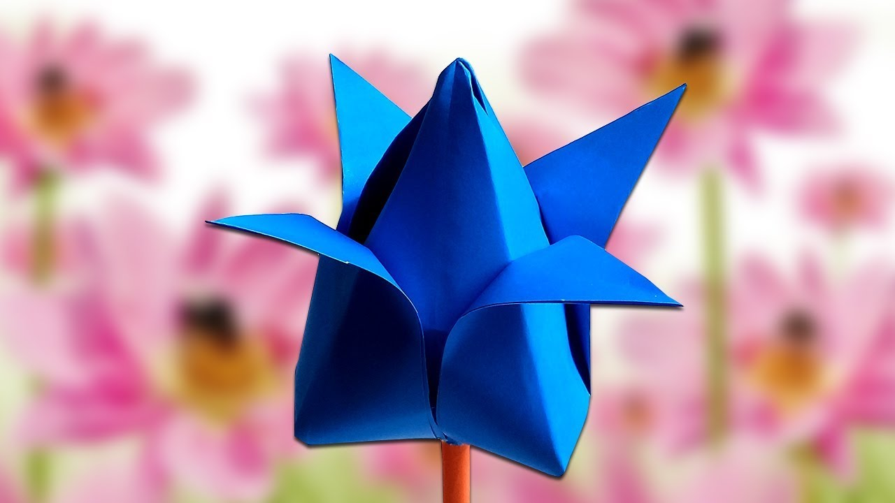 How To Make Lotus Flower Easy Tutorial Paper Craft How To Make