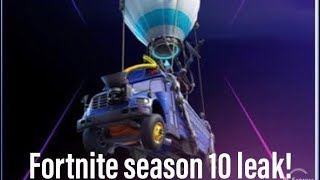 SEASON 10 FORTNITE IMAGE FUITE!!! Saison X de Fortnite!