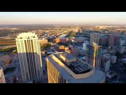 Downtown Houston Theater District by Drone