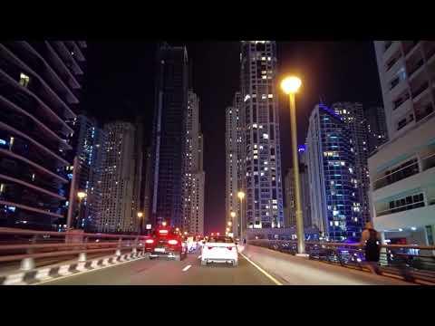 Driving from The Palm Jumeirah to Dubai Marina   Dubai UAE 🇦