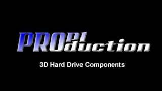 Mechanical Components of Hard Drive in 3D