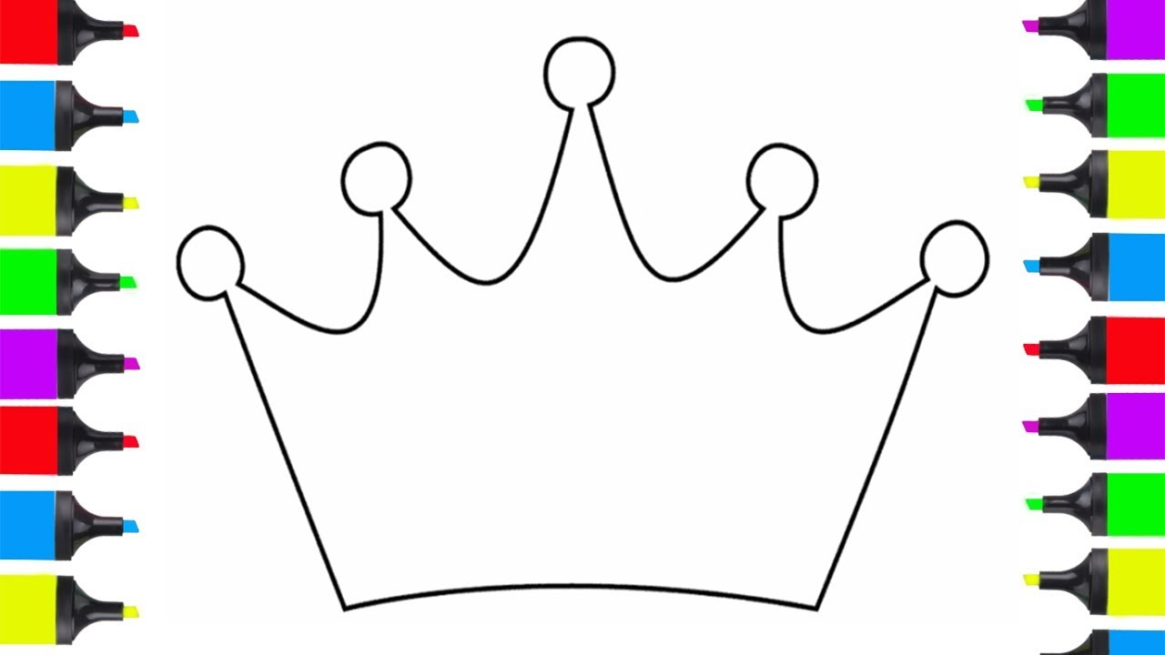 How To Draw Prince Crown Easy Coloring Pages For Kids