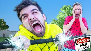 DO NOT TOUCH ELECTRIC FENCE! I Tested Prank Hacks on My Best Friend To Protect Spy Ninjas Safe House