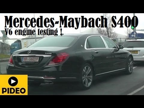 mercedes-maybach s400, spotted testing the v6 engine somewhere in