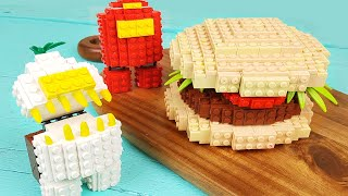 Lego Among Us Burger - Lego In Real Life | Stop Motion Cooking & ASMR